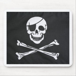 Pirate Skull and Cross Bones - Jolly Roger Mouse Pad