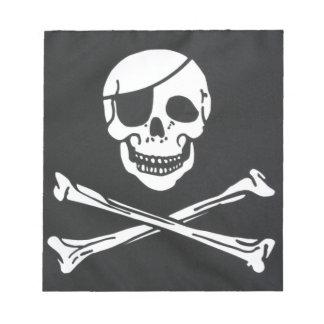 Pirate Skull and Cross Bones - Jolly Roger Notepad