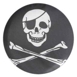 Pirate Skull and Cross Bones - Jolly Roger Party Plates