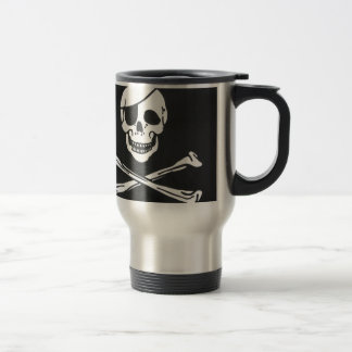 Pirate Skull and Cross Bones - Jolly Roger Travel Mug