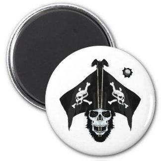 Pirate skull and cross bones magnet