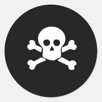 Pirate skull and cross bones sticker for kids