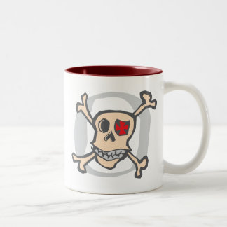 Pirate: Skull and Cross Bones Two-Tone Coffee Mug