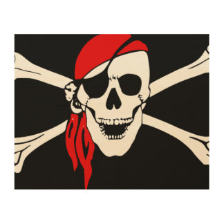 Pirate Skull and cross bones Wood Wall Decor
