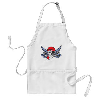 Pirate Skull and Cross bow Adult Apron