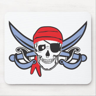 Pirate Skull and Cross bow Mouse Pad