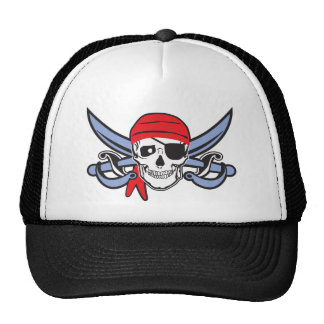 Pirate Skull and Cross bow Trucker Hat