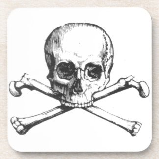 Pirate Skull and Crossbone Beverage Coaster