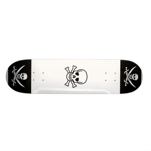 Pirate Skull and Crossbone Skate Decks