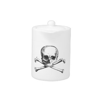 Pirate Skull and Crossbone Teapot