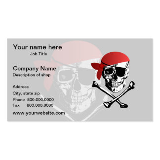 Pirate Skull and Crossbones Double-Sided Standard Business Cards (Pack Of 100)