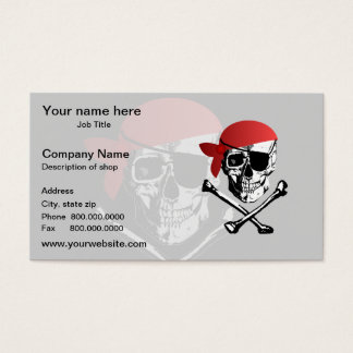 Pirate Skull and Crossbones Business Card