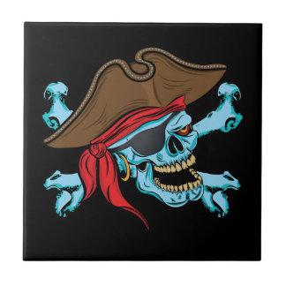 Pirate Skull and Crossbones Ceramic Tile