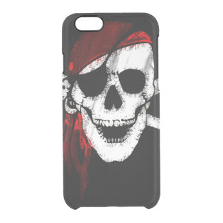 Pirate Skull and Crossbones Clear iPhone 6/6S Case