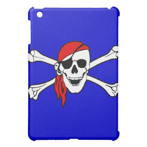 Pirate Skull and Crossbones Custom  Case For The iPad Mini