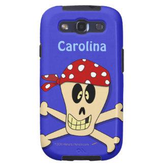 Pirate Skull and Crossbones Custom Name Samsung Galaxy SIII Cases