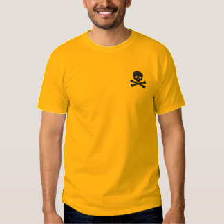 Pirate Skull and Crossbones Embroidered T-Shirt