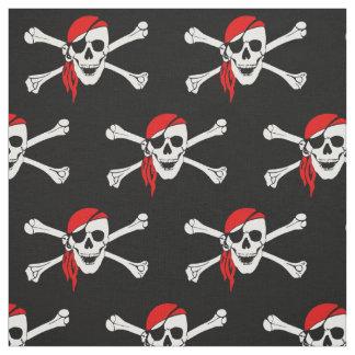 Pirate skull and crossbones fabric
