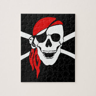 Pirate Skull and crossbones Flag Jigsaw Puzzle