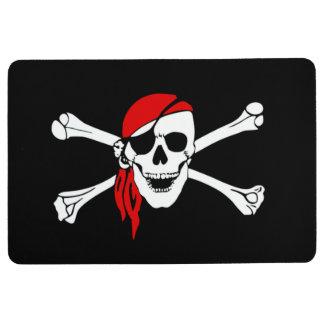 Pirate skull and crossbones floor mat