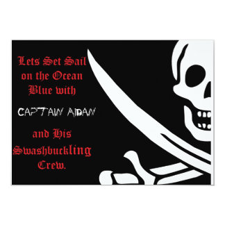 Pirate Skull and crossbones invitaion Card