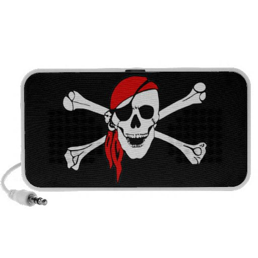 Pirate Skull and Crossbones iPod Doodle Speakers