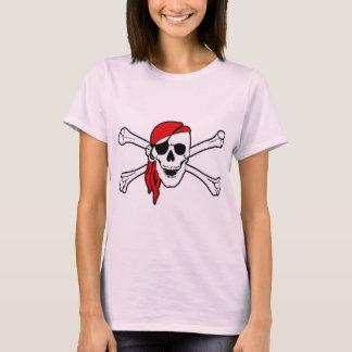 Pirate Skull and Crossbones Ladies Tee Shirt