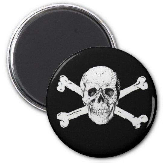 Pirate Skull and Crossbones Magnet