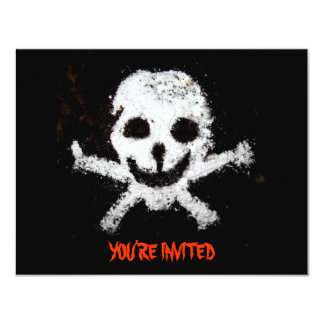 Pirate Skull and Crossbones Party Invitation