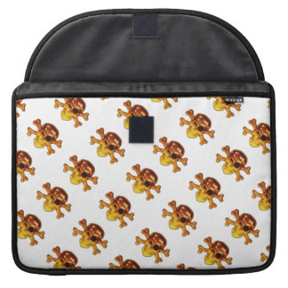 Pirate Skull and Crossbones Pattern Sleeve For MacBooks