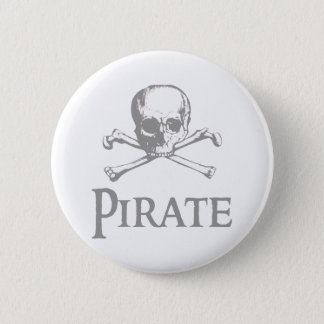 Pirate Skull and Crossbones Pinback Button