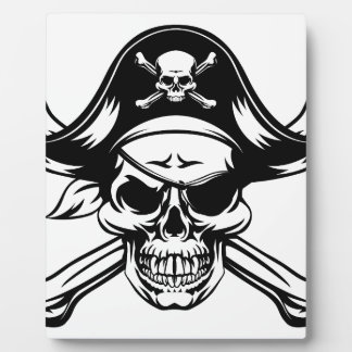 Pirate Skull and Crossbones Plaque