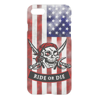 Pirate Skull and Crossbones Ride or Die iPhone 7 Case