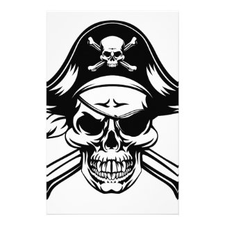 Pirate Skull and Crossbones Stationery