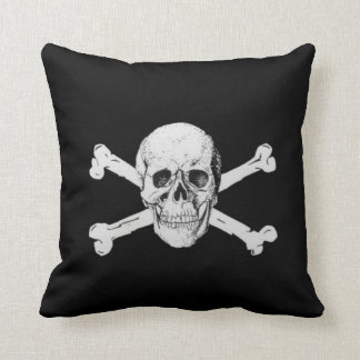 Pirate Skull and Crossbones Throw Pillow