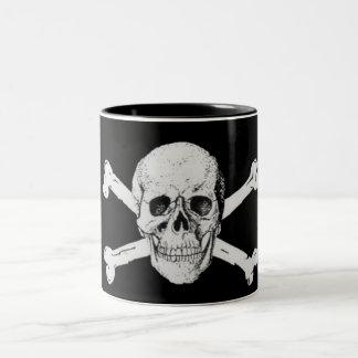Pirate Skull and Crossbones Two-Tone Coffee Mug