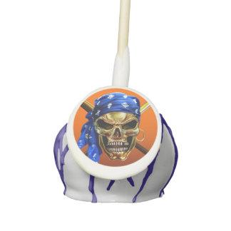 Pirate Skull and Crossbones Cake Pops