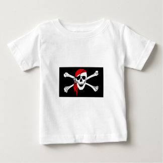 Pirate Skull and Crossbones with Red Bandana Baby T-Shirt