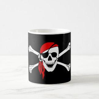 Pirate Skull and Crossbones with Red Bandana Coffee Mug