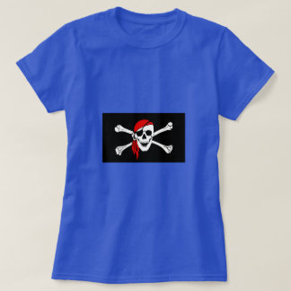 Pirate Skull and Crossbones with Red Bandana T-Shirt