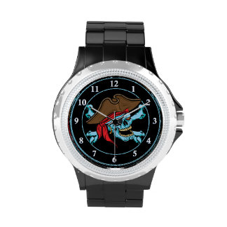 Pirate Skull and Crossbones Wrist Watches
