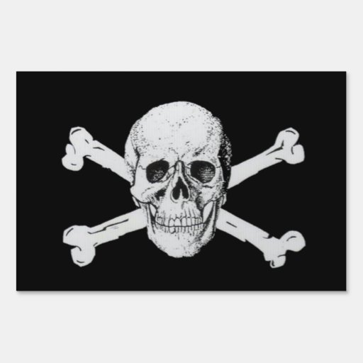 Pirate Skull and Crossbones Yard Signs