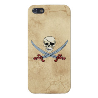 Pirate Skull and Crossed Cutlasses Creepy Art Case For iPhone SE/5/5s