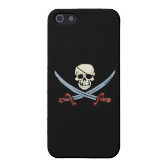 Pirate Skull and Crossed Cutlasses Creepy Art Cover For iPhone SE/5/5s