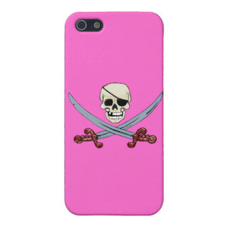 Pirate Skull and Crossed Cutlasses Creepy Art iPhone SE/5/5s Cover