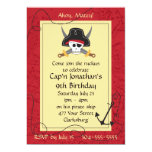 Pirate Skull and Crossed Swords Birthday Card