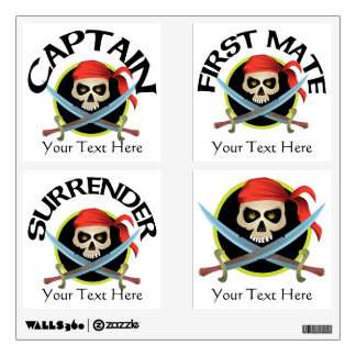 Pirate Skull and Crossed Swords Party Pack Wall Decal