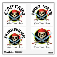 Pirate Skull and Crossed Swords Party Pack Wall Decals
