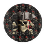 Pirate Skull And Hat Cutting Board