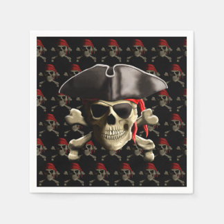 Pirate Skull And Hat Disposable Napkin
